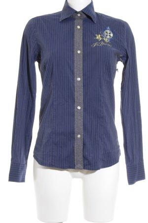 La Martina Blusa-camisa azul oscuro-verde oscuro estampado a rayas