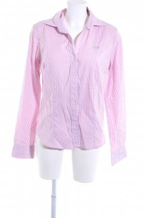 La Martina Hemd-Bluse rosa-weiß Streifenmuster Casual-Look
