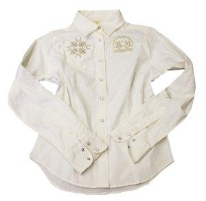 La Martina Blouse-chemisier blanc coton