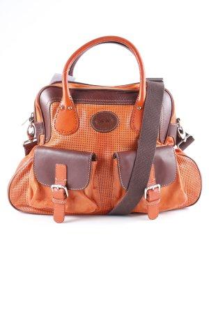 La Martina Borsa con manico arancione scuro-marrone stile da moda di strada
