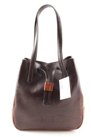 La Martina Borsa con manico marrone-nero-cognac stile da moda di strada