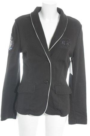 La Martina Jerseyblazer schwarz-weiß Business-Look