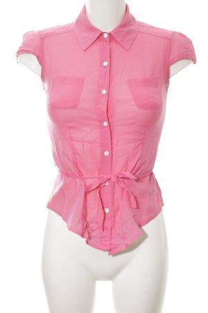 La Martina Kurzarm-Bluse pink Casual-Look