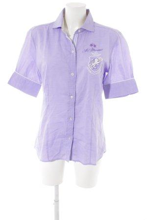 La Martina Shirt met korte mouwen paars casual uitstraling