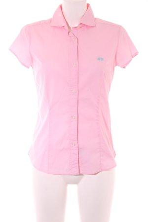 La Martina Chemise à manches courtes rose-turquoise style d'affaires