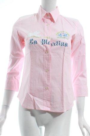 La Martina Langarm-Bluse hellrosa Casual-Look
