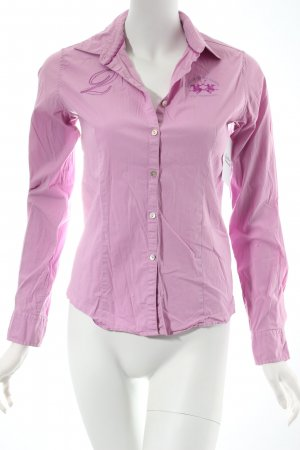 La Martina Langarm-Bluse rosa Business-Look