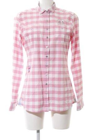 La Martina Langarmhemd pink-weiß Karomuster Business-Look