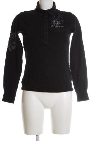 La Martina Langarmhemd schwarz sportlicher Stil