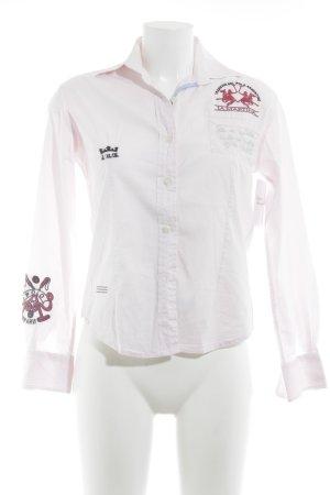 La Martina Langarmhemd rosé Casual-Look