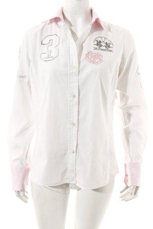 La Martina Chemise à manches longues blanc style décontracté