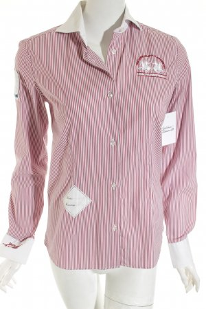 La Martina Long Sleeve Shirt white-russet striped pattern casual look