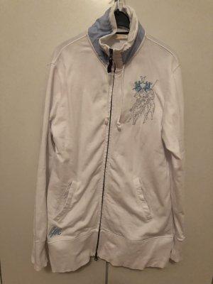 La Martina Chaqueta de tela de sudadera blanco-azul claro
