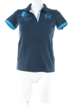 La Martina Polo-Shirt blau Motivdruck Casual-Look