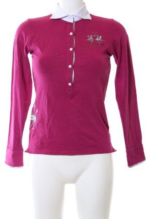 La Martina Polo-Shirt pink-weiß Casual-Look