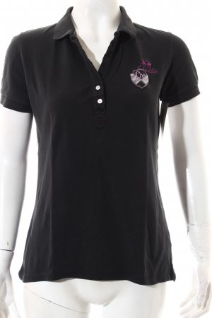 La Martina Polo-Shirt anthrazit-lila sportlicher Stil