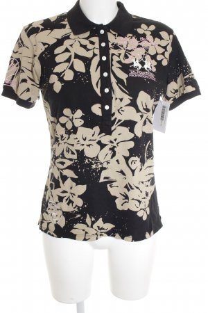 La Martina Polo-Shirt Blumenmuster Beach-Look
