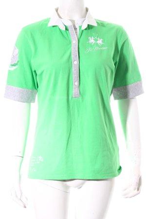La Martina Polo-Shirt grün-hellgrau sportlicher Stil