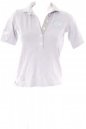 La Martina Polo-Shirt hellgrau-himmelblau Casual-Look