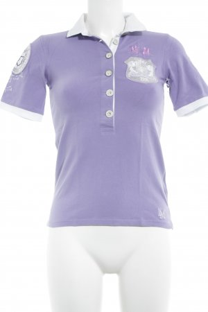 La Martina Polo-Shirt helllila-weiß Casual-Look