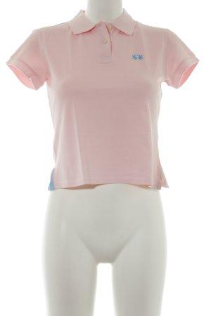 La Martina Camiseta tipo polo rosa claro look casual