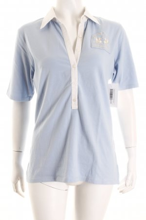 La Martina Polo-Shirt himmelblau-weiß Casual-Look