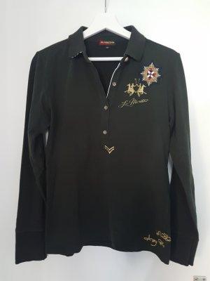 La Martina Polo Shirt Longsleeve dunkelgrün