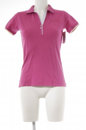 La Martina Camiseta tipo polo magenta look casual