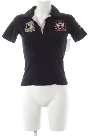 La Martina Camiseta tipo polo letras bordadas estilo deportivo