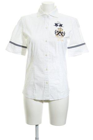La Martina Camiseta tipo polo blanco-azul oscuro estilo deportivo