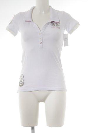 La Martina Polo-Shirt weiß-rosé Casual-Look