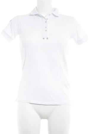 La Martina Polo-Shirt weiß-stahlblau Casual-Look