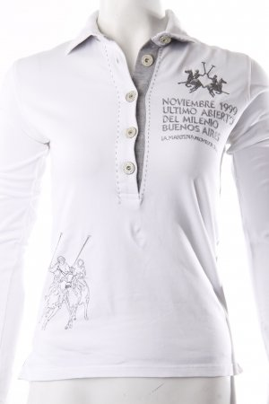 La Martina Poloshirt Weiß Grau