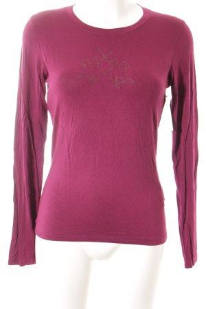 La Martina Rundhalspullover purpur schlichter Stil