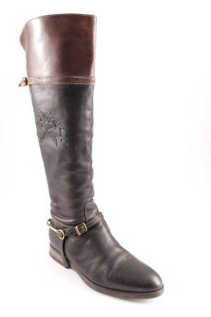 La Martina Botas estilo militar negro-marrón estilo clásico