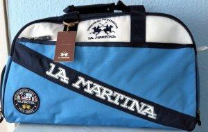 La Martina Borsa sport blu scuro-azzurro Nylon