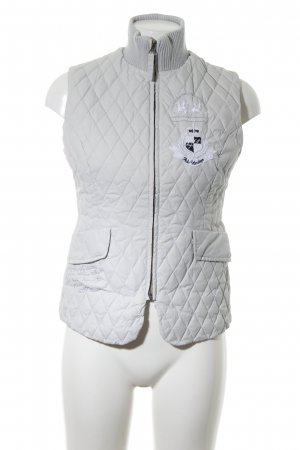 La Martina Quilted Gilet white quilting pattern casual look