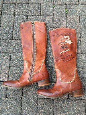 La Martina Botas de pantorrilla ancha marrón