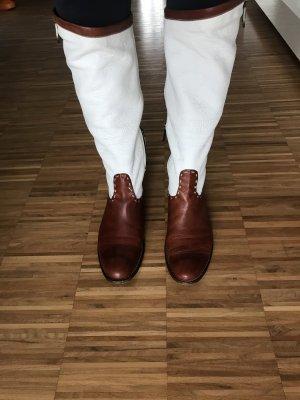 La Martina Bottes stretch blanc-brun