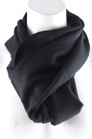 La Martina Knitted Scarf black classic style