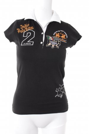 La Martina T-Shirt schwarz-weiß extravaganter Stil