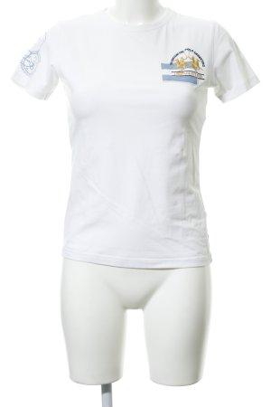 La Martina T-Shirt wollweiß Motivdruck Casual-Look