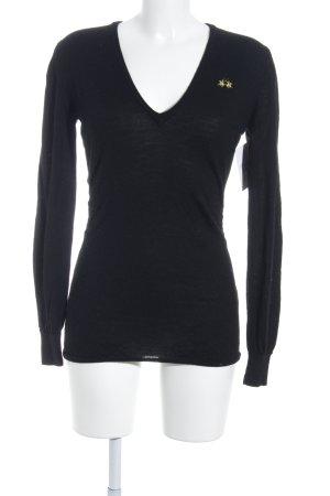 La Martina V-Ausschnitt-Pullover schwarz Casual-Look