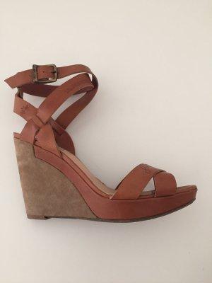 La Martina Platform Sandals light brown-brown