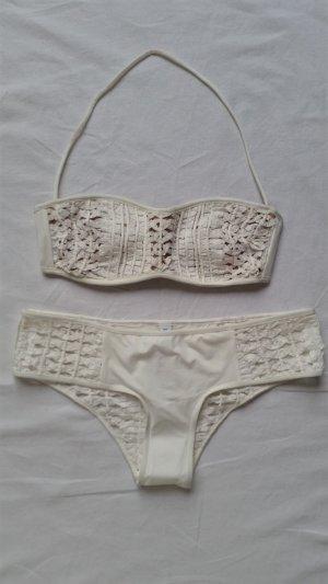 La Perla, Bikini Ethno Soutache, offwhite, 36, Lycra, neu, € 600,-.