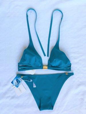 La Perla, Bikini, Lycra, 38 B, türkis/petrol, neu, € 400,-