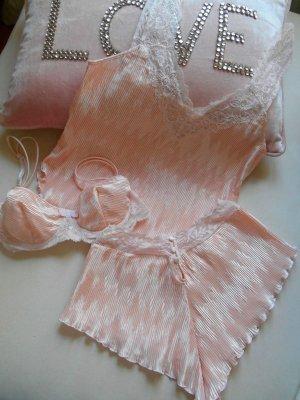 La Perla Italy Dessous-Set Wäscheset Rosa Plissee Spitze Gr. 3
