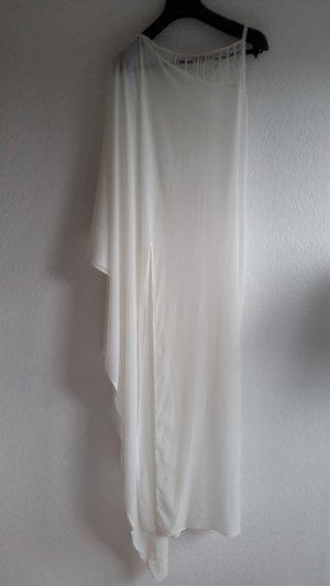 La perla Caftan blanc soie