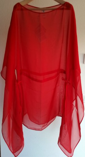La Perla, Kaftan, kurz, rot, 100 % Seide, Einheitsgröße, neu, € 600,-