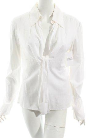 La perla Langarm-Bluse weiß